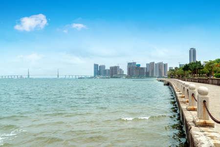 Sea and city view of Zhanjiang, China