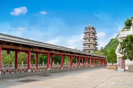 Ancient buildings in the city, Liuzhou, Guangxi, China.