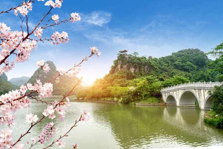 A bridge with ethnic characteristics, Liuzhou,Guangxi, China.