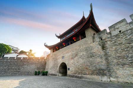 The ancient city gate in Liuzhou, Guangxi, China.