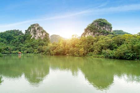 The landscape of Liuzhou, Guangxi