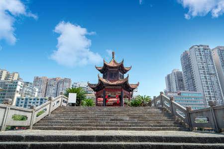 A bridge with ethnic characteristics, Duyun, Guizhou, China.