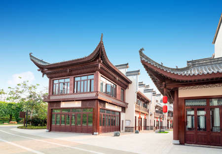 Buildings and hutongs with local characteristics, Hainan Island, China. Foto de archivo