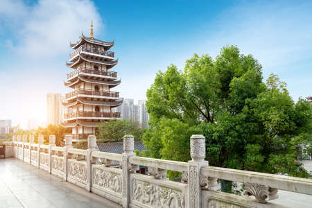 Ancient building pagoda, Liuzhou, China.