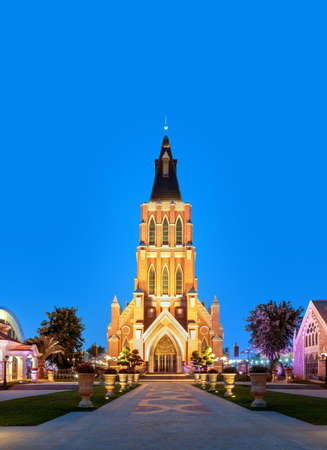 The church building on Haihua Island, Hainan, China Foto de archivo