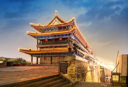 ancient city wall at night, Xi'an,China