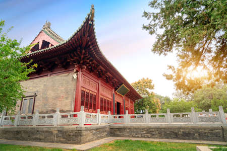 The main hall of Zhougong Temple has a history of more than 400 years, Luoyang, China.