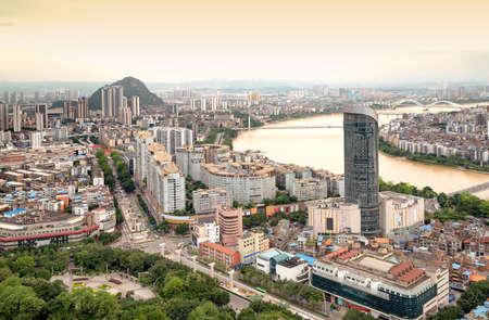 Panorama of Liuzhou, Guangxi, China Foto de archivo
