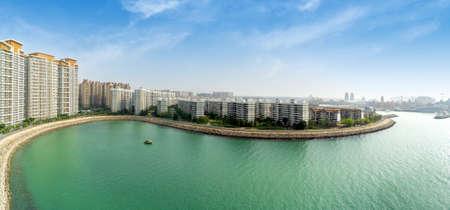 Hainan Ocean Flower Island (Sea Flower Island or Haihuadao) Coastal Resort Scenery, Danzhou City, Hainan Province, a Tourism Destination for Summer Vacation in China. Foto de archivo