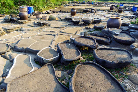 salt pan. With a history of more than a thousand years, Hainan, China.