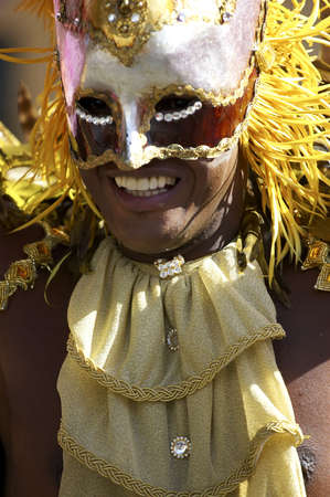 Man in costume nottinghill carnival london Stock Photo