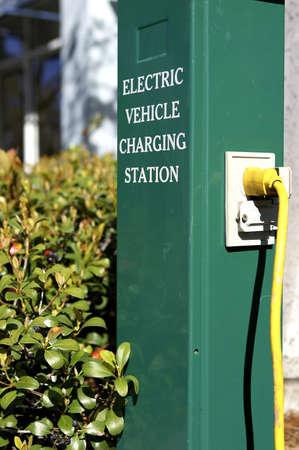Electric car charging station in celebration florida united states usa