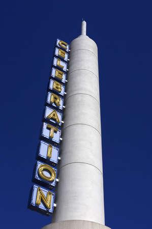 untied: Cine peque�a celebraci�n en la ciudad Orlando Florida Estados Unidos EE.UU. Foto de archivo