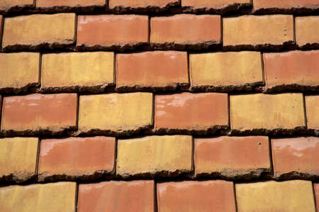 Coloured roof tiles photo