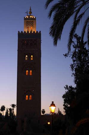 Evening shot of the koutoubia mosque Marrakech photo