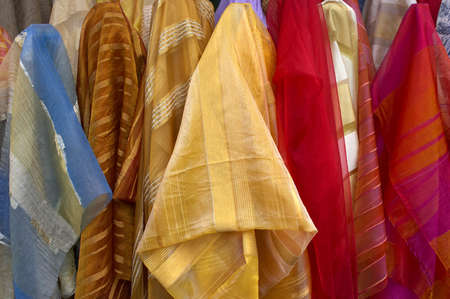 Fabric for sale Stock Photo