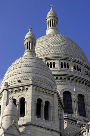 montmartre: Sacre-coeur, montmartre, paris, france Stock Photo