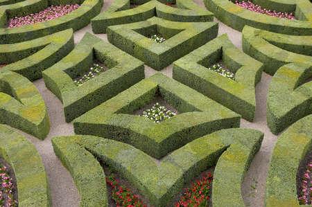 loire: Formal gardens at chateau, de, villandry, loire, valley, france