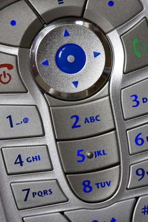 Close up shot of mobile phone keypad Stock Photo