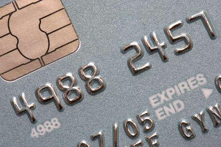 chip and pin: Macro shot of chip and pin credit card
