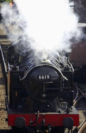 severn: Steam train 6619, severn valley railway, bewdley, uk