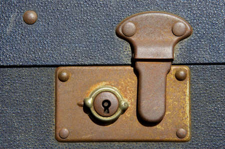 ridged: Locked suitcase, severn valley railway, bewdley station, uk Stock Photo