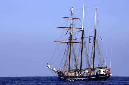 schooner: Three sail schooner, cala bona, mallorca, majorca, spain