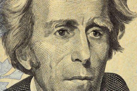 jackson: president jackson face on the twenty dollar bill