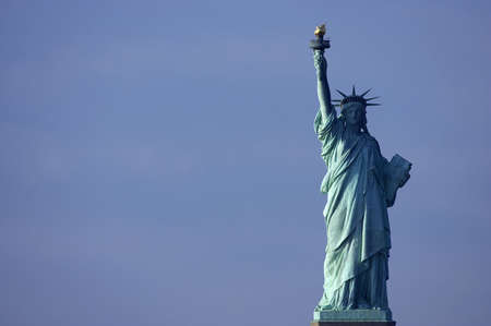 enlightening: Statue of liberty, new york, manhattan, America, usa Stock Photo