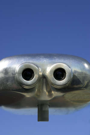 Binoculars on the roof of the rockefeller building, Manhattan, New York, America, USA photo