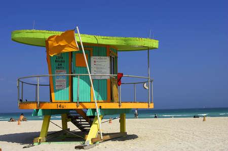 gaudy: Lifeguard station, miami beach, florida, america, usa