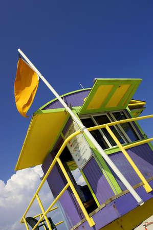 wacky: Lifeguard station, miami beach, florida, america, usa
