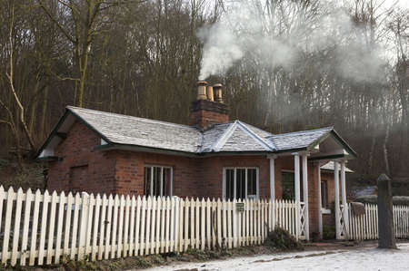 no fires: Shelton tollhouse, blist hill Victorian museum, Shropshire, England