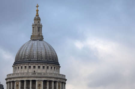 St pauls dome, viewed from the south bank, London, uk photo