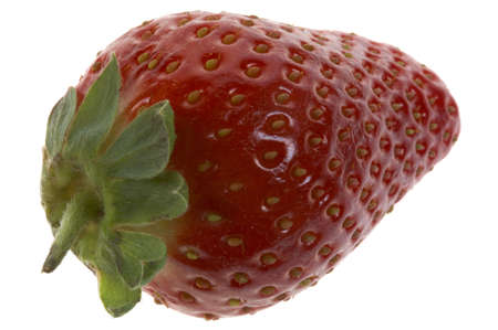 Single red strawberry photo