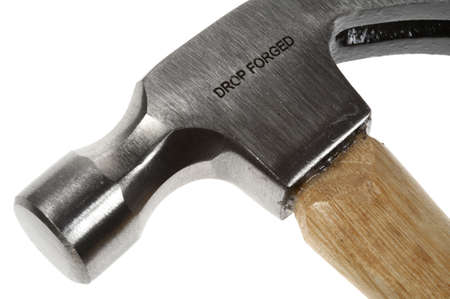 leverage: Hammer on a white background Stock Photo