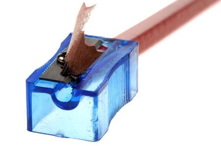 sharpener: Pencil sharpener on a with background