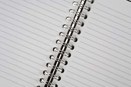 Open spiral bound notepad photo
