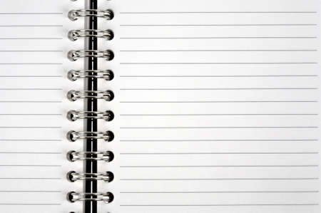 Open spiral bound notepad Stock Photo - 377998
