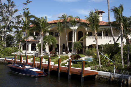Luxury house on millionaires row new river, known as the isles fort Lauderdale florida America usa taken in march 2006