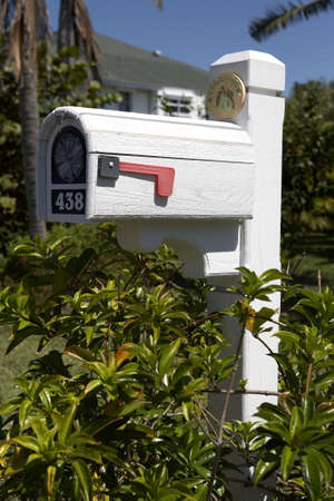 residential tree service: us mailbox on sanibel island florida united states usa taken in march 2006