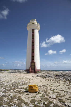 windward: willemstoren lighthouse on the southern tip this was bonaires first lighthouse built in 1837 and is now automated Bonaire caribbean windward islands lesser antillies west indies