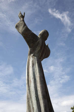 georges: looking up at the statue christ of the deep st. georges Grenada windward islands caribbean lesser antillies west indies Stock Photo