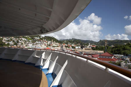 windward: view from the deck of a cruise ship of st. georges Grenada windward islands caribbean lesser antillies west indies