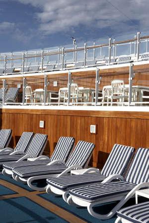 windward: sun deck on a cruise ship St Lucia windward islands caribbean west indies