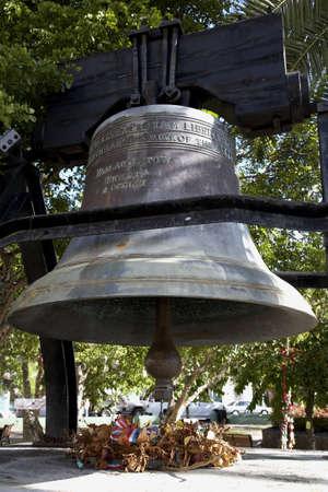 emancipation: The liberty bell in emancipation gardens Charlotte Amalie St Thomas US Virgin islands lesser antilles eastern caribbean west indies