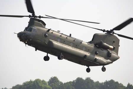 raf: chinook helicopter at raf cosford shifnal shropshire england uk Stock Photo