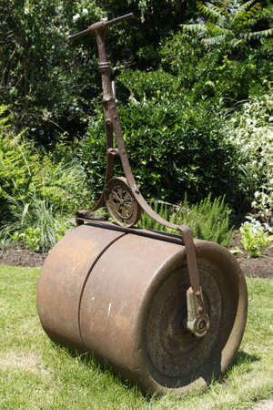 old fashioned metal lawn roller london uk