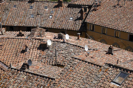 roof tops of castellina in chianti tuscany italy europe Stock Photo