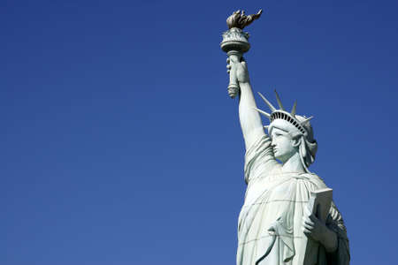 statue of liberty against a clear blue sky united states of america